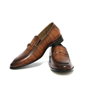 Mochi Cordwainers - Brown Boston Loafers (ii)