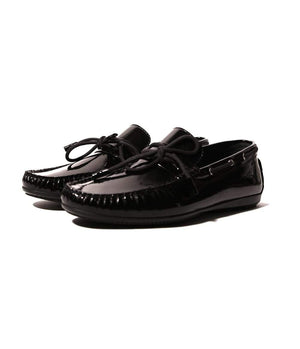 Mochi Cordwainers - Black Driver Moccasin Patent