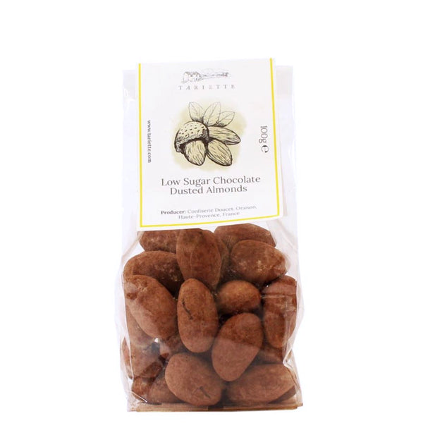 Low sugar chocolate dusted almonds