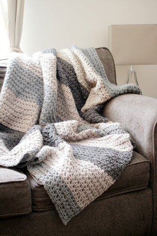 Let's Stay Home Blanket // Crochet PDF Pattern