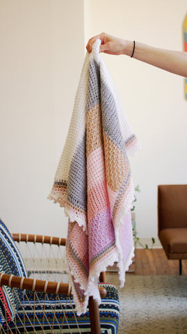 Sweet Stripes Baby Blanket // Tunisian Crochet PDF Pattern