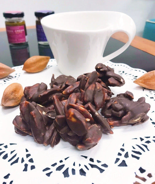 Organic Chocolate Bites with Wild Harvested Pili Nuts: sugar-free with organic cocoa beans (120g) - Healtholicious One-Stop Biohacking Health Shop