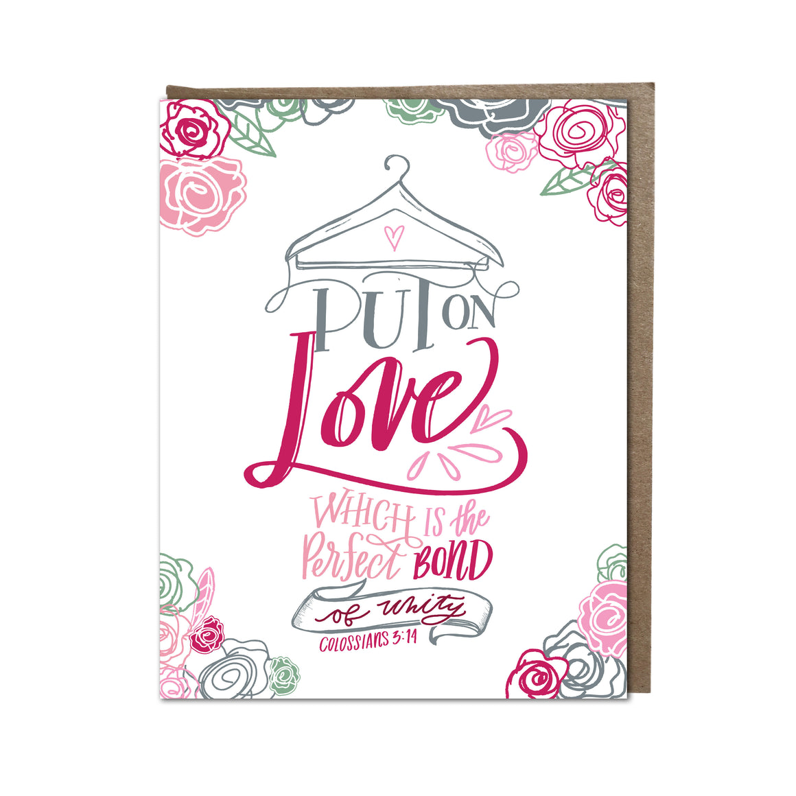 """Put on Love"" card"