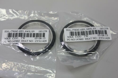 2 New MKS NW50 NW 50 Centering Ring Stainless/Viton