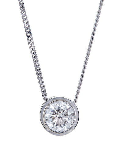 10k White Gold and Diamond Necklace
