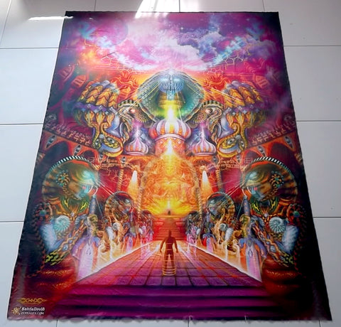 "XL Tapestry / Backdrop of ""As Within, So Without"""