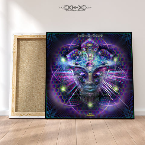 "Stretched Canvas Print of ""Divine Moment of Truth"""