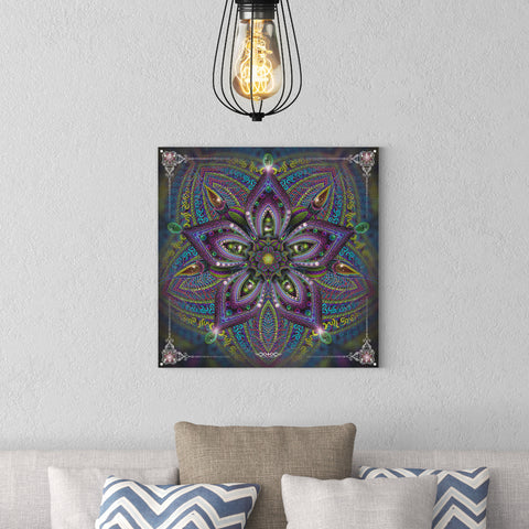 "Stretched Canvas Print of ""Moksha In Bloom"""