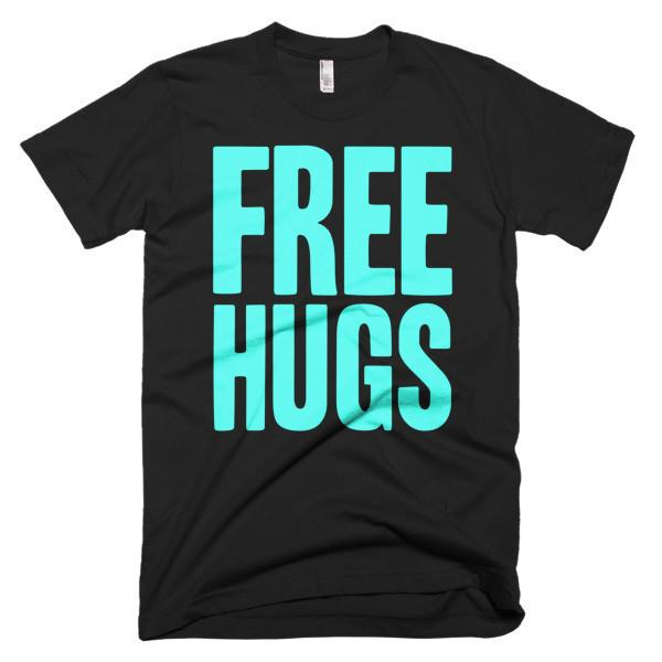 Men's Free HUGS T-shirt Black / 3XL / Men T-Shirt BelDisegno