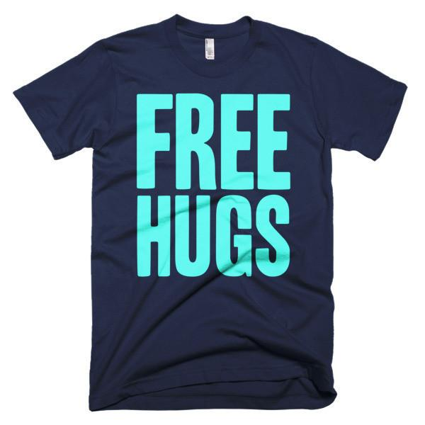 Men's Free HUGS T-shirt Navy / 3XL / Men T-Shirt BelDisegno