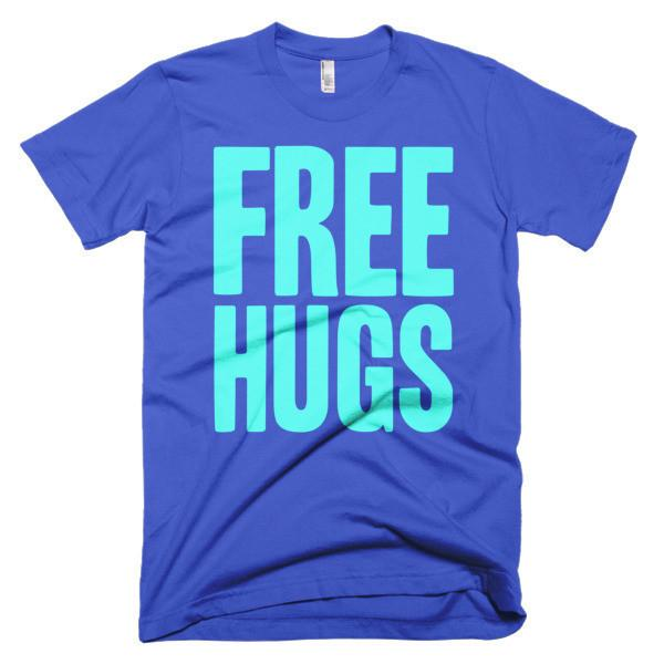 Men's Free HUGS T-shirt Royal Blue / 3XL / Men T-Shirt BelDisegno