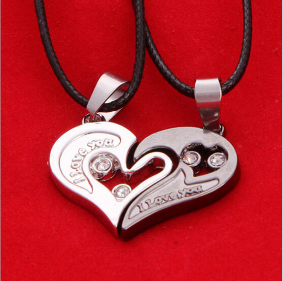 Lovers  I Love You Heart Stainless Steel Necklace
