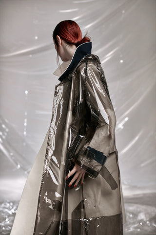 """Cy"" Trench Coat (Plastic and ensemble)"