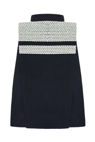 "Our AW17-18 ""Rhombus"" skirt is a truly gravity defying piece. Structure is an important element of the Cimone identity, and this skirt is a perfect reflection of those values. Built around a simple mid calf length pencil skirt, the large rectangular application juts defiantly at a 90 degree angle from the waist."