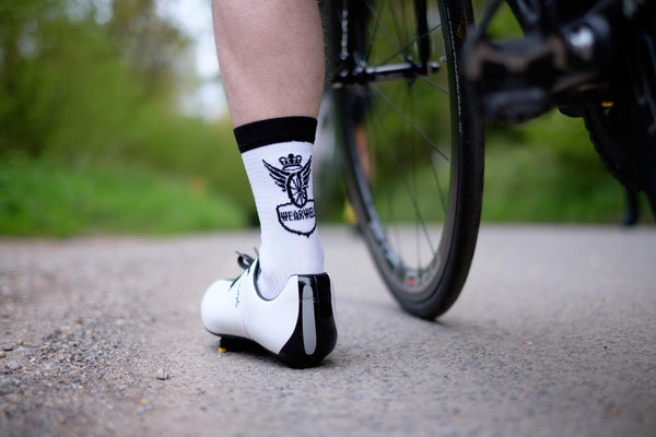 Cycling Socks - Revival Collection | First Edition - White - Socks - Wearwell Cycle Company