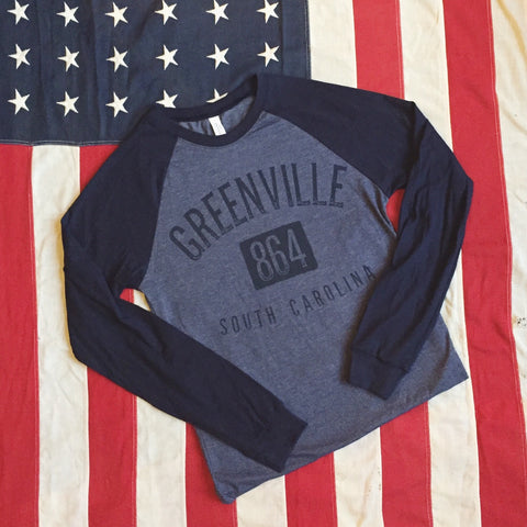 Greenville 864 baseball tee - long sleeve