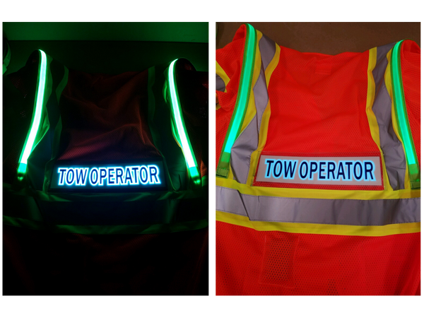 Optic-Fiber Safety Vest (Tow Operator ID Panel)
