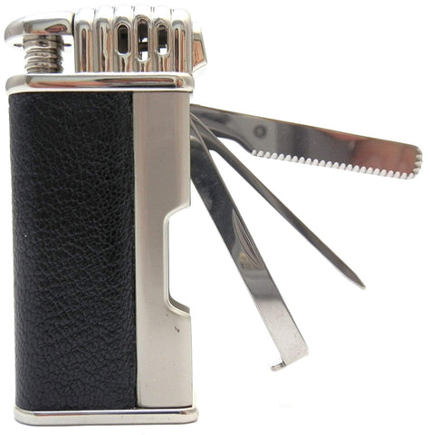 Leather Tobacco Pipe Lighter and Czech Tool - All in One