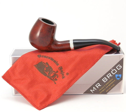 Full Bent Tobacco Pipe - Model No: 82 Consul Pecan - Mediterranean Briar Wood - Hand Made