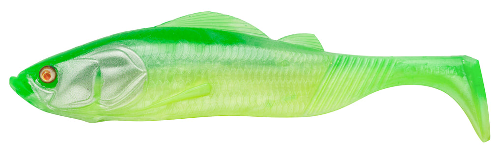 "PTS7201 - ADUSTA Pick Tail Swimmer 7"" - Green Chartruese Shad"