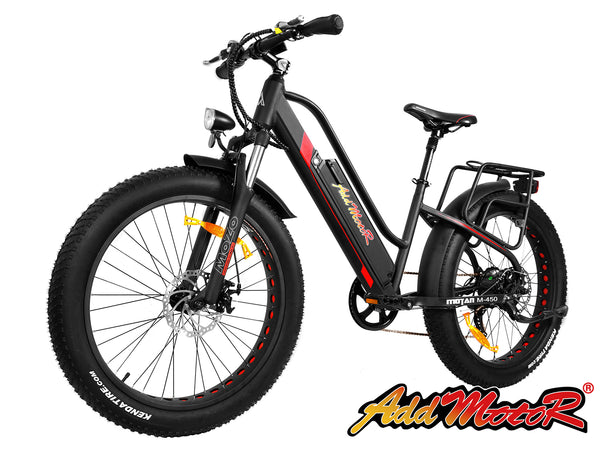 Addmotor MOTAN M450 48V Womens Front Suspension Electric Fat Tire Bicycle Electric Mountain Bikes - Electric Bike City