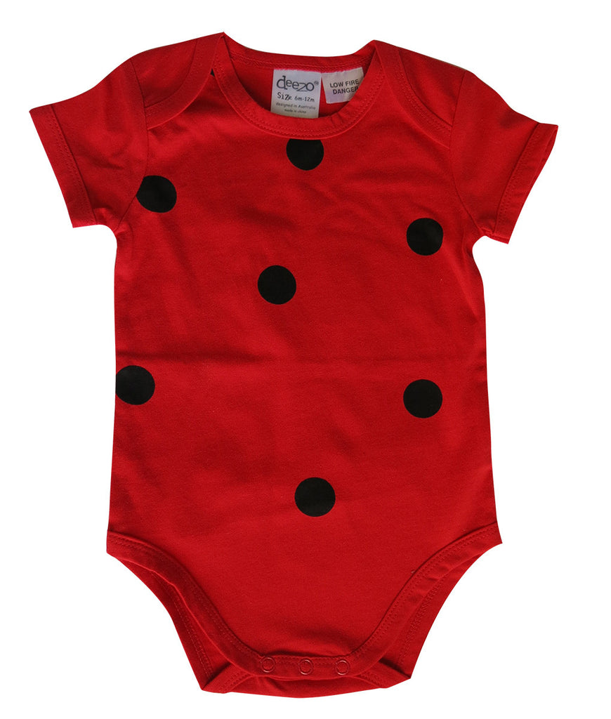 Red Lady Bug baby suit - deezo the happy fashion