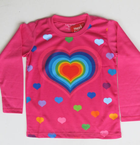 Sweet heart  -  Long sleeve girls graphic T shirt
