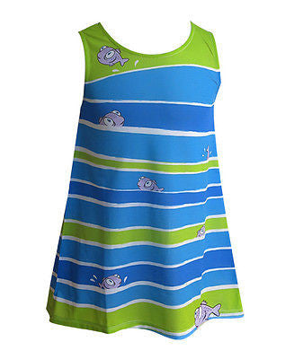 Striped Fish - Girl's boho dress - deezo the happy fashion