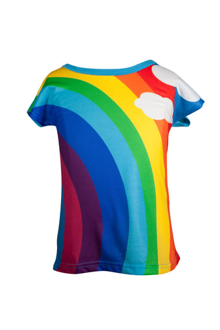 At the end of the Rainbow - Girls Classic rainbow T-shirt - deezo the happy fashion