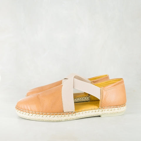 Yebo : Ladies Leather Espadrille Sneaker in Anthracite Domus Sale