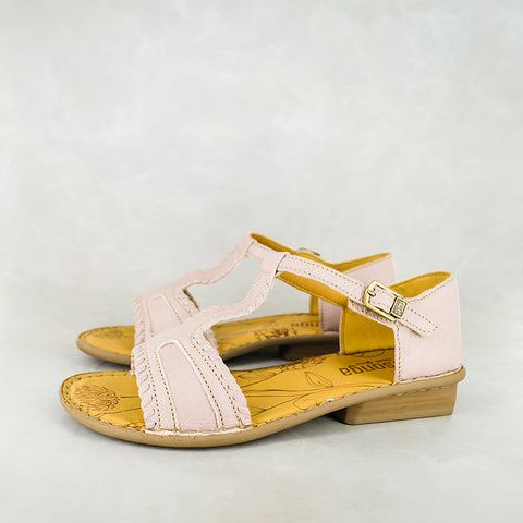 Hawozi : Ladies Leather Sandal in White Cayak Sale