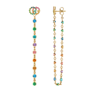 GG Running 18kt Yellow Gold and colored stone drop Earrings
