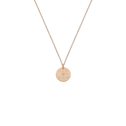 Icon Blooms 18k pink Gold and Enamel Necklace