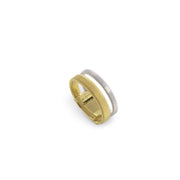 Masai 18K Yellow & White Gold Two Row Ring