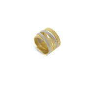 Masai 18K Yellow and White Gold 5 Strand Ring