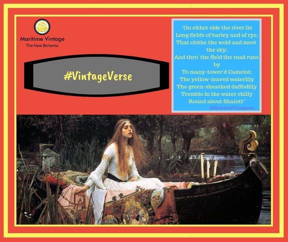#VintageVerse | The Lady of Shalott💛 | Can Art & Culture Co-mingle in #Brand Marketing?