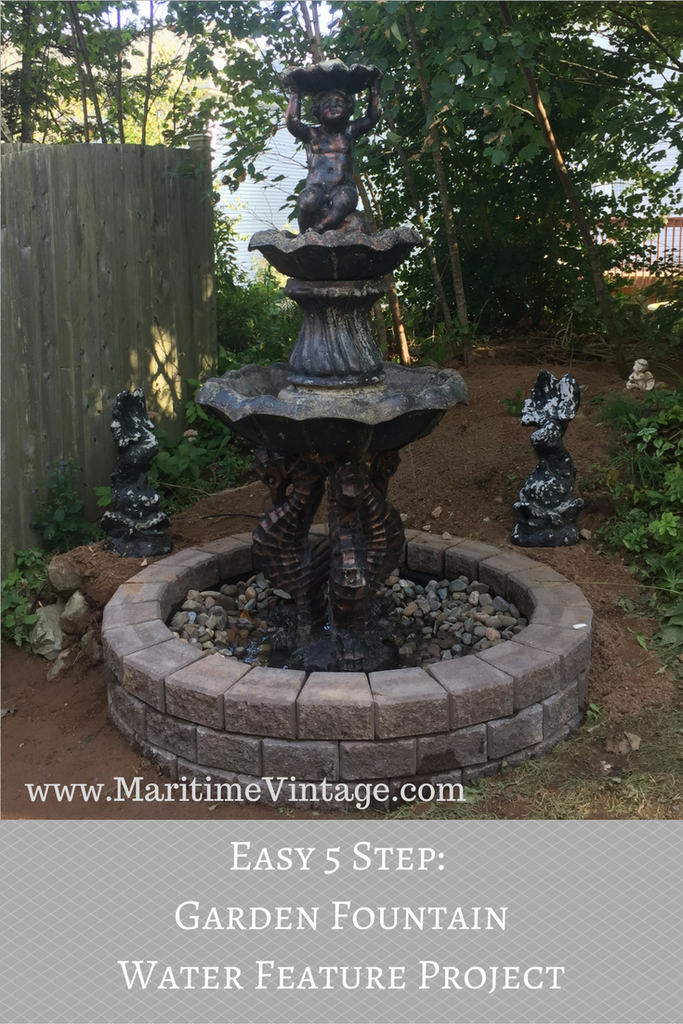 Easy 5 Steps:  Garden Fountain Water Feature Project