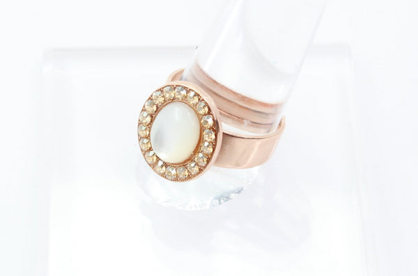 Barbados Collection Round Crystal Ring