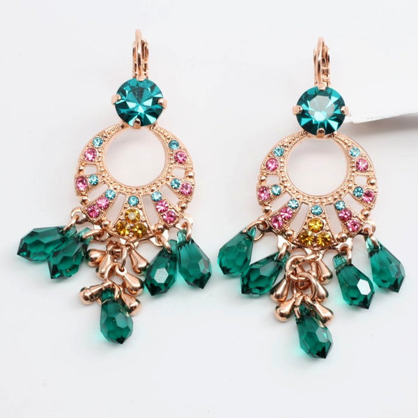 Selene Chandelier Earrings in Rose Gold