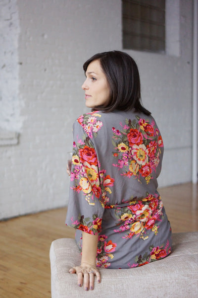 Large Print Floral Robe