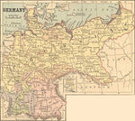 1882 Map of Germany