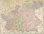 1896 Map of Western Germany