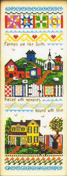 """Families are Like Quilts"" Counted Cross Stitch Pattern"