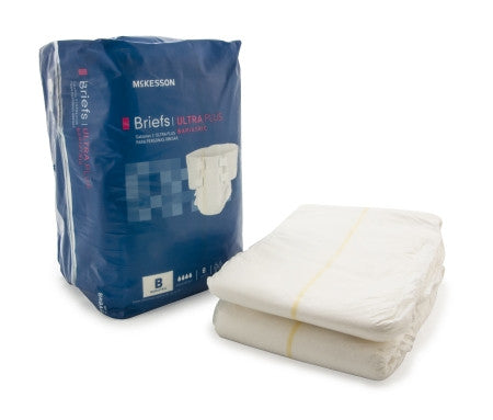 McKesson Adult Bariatric Ultra Absorbant Disposable Incontinent Brief - BRBAR