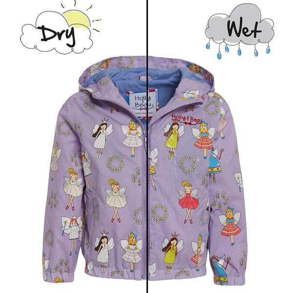 Holly&Beau Light Purple Color Changing Raincoat - Frolicstyle