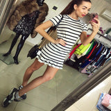 Cool Casual Stripe Summer Mini Dress