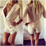 Stylish Lace Deep-V Sexy Jumpsuit
