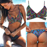 Womens Sexy Ethnic Print Design Swimsuit Bikini
