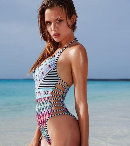 Exotic Design One-Piece Monokini Swimsuit