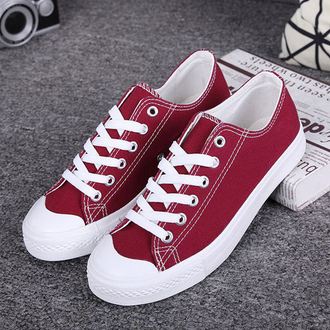 Womens Classic Stylish Canvas Trendy Lace Up Sneakers
